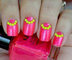 My Nail Graffiti: Born Pretty Neon Studs Review + My 600th Post!!