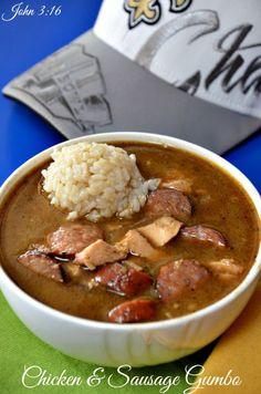 Chicken & Sausage Gumbo #gumbo #New Orleans #chicken #soup