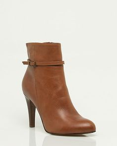Italian Made Leather Buckle Ankle Boot