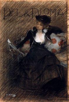 Pèl & Ploma, 1900. Ramón Casas i Carbó (Spanish, 1866-1932).