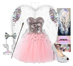 """#Angel"" by moon-and-starss ❤ liked on Polyvore featuring Chanel, NOVICA, Disney, Lauren Lorraine, Amber Sceats and angel"