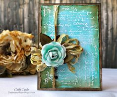 Simple Beauty Card by Cathie Cowles featuring products from Tammy Tutterow | www.tammytutterow.com