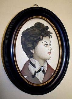 Teddy Girl Framed Painting by Scotty Osburn by ScottBotts on Etsy, $175.00