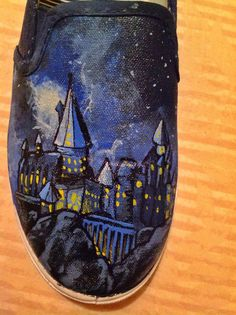 Harry Potter Shoes Hogwarts and Stag Patronus by simplycolorfilled
