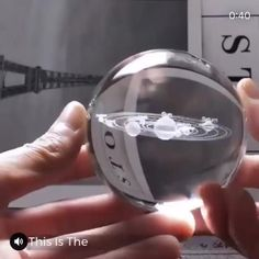 Engraved Solar System Sphere Now, you can hold the Solar System in the palm of your hand, with this Engraved Solar System Sphere. A sublime eye-catcher, with a handmade design of the Solar System, this remarkable sphere features an advanced