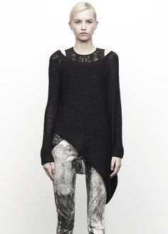 Masterful layering, and every individual piece is phenomenal.  Helmut Lang.