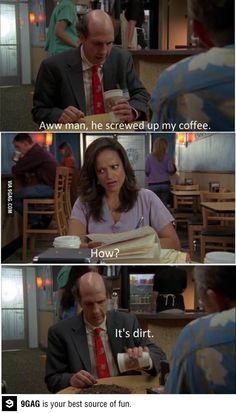 Scrubs. Ted is one of the best characters, hands down.