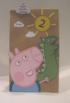 Handmade GEORGE from Peppa Pig inspired treat bags on Etsy, $23.00
