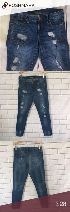 "Express Skinny Jeans Size 2  Express Skinny jeans.  Stylish distressed denim details.  26"" inseam. Express Jeans Skinny"