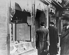 """The """"Night of Broken Glass"""" Kristallnacht. Nov 7th is the 75 year anniversary of this terrible night"""