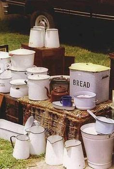 Vintage enamelware used to collect these things years ago and decorate with them, still love them