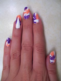 Abstract triangle design from @missjenfabulous YouTube tutorial
