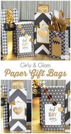 DIY Scrapbook Paper Gift Bags