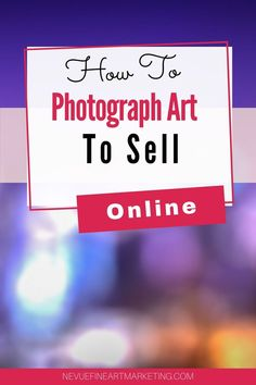 How To Photograph Art To Sell online. The quality of the image you share online will be the determin factor if your art sells or not. Tips on photographing artwork. Selling Art Online, Online Art, Photographing Artwork, Sell My Art, Share Online, Creating A Business, Instagram Tips, Pinterest Marketing, Art Market