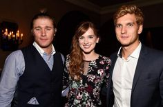 Tyler Jacob Moore, Elizabeth Lail and Scott Michael Foster at the S4 Premiere party