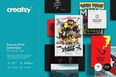Canvas Print Generator Mockup Set by Creatsy on @creativemarket