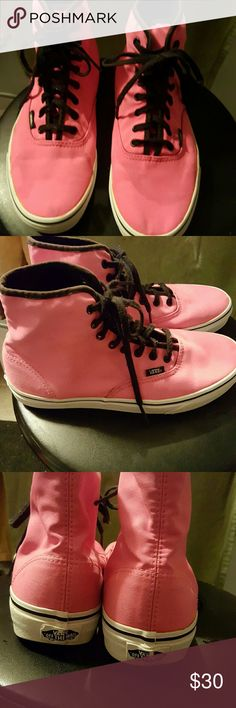 NWOT Vans, bright pink size 9. These are very cool, a bit too big for me. Vans Shoes Sneakers