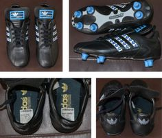 adidas originals bocca boca juniors football boots 1970s - 80s? made in france