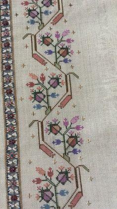 Baby Knitting Patterns, Knitting Stitches, Cross Stitch Borders, Cross Stitch Patterns, Hand Embroidery Design Patterns, Bob Ross, Pattern Design, Crochet, Handmade