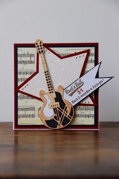 Kartka na urodziny z gitara .