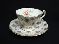 Wonderful 2 PIECE CHINTZ SET Vintage Cup and Saucer by Hammersley Made in England  Chintz Floral Decoration Bone China by lasadana on Etsy https://www.etsy.com/listing/112939168/wonderful-2-piece-chintz-set-vintage-cup