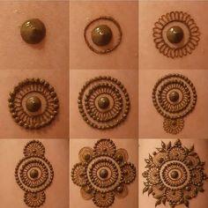 37 Ideas For Tattoo Mandala Design Inspiration Henna Mehndi Easy Mehndi Designs, Henna Tattoo Designs, Mehandi Designs, Round Mehndi Design, Finger Henna Designs, Indian Mehndi Designs, Mehndi Designs For Girls, Mehndi Designs For Beginners, Mehndi Designs For Fingers