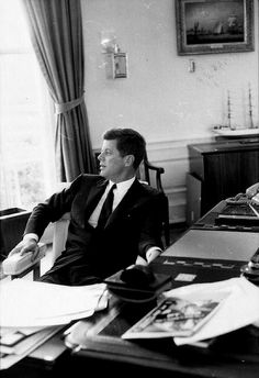 """ JFK in the oval office """