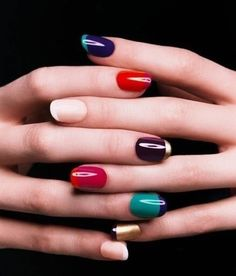 colorful fingure