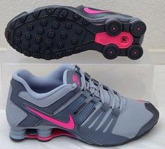 b7a128660a50 NIB NIKE SHOX CURRENT GS GREY PINK ATHLETIC RUNNING SHOES 5.5Y   Sz 7 WOMENS