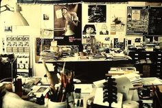 Ray Eames, designer and artist. | 40 Inspiring Workspaces Of The Famously Creative