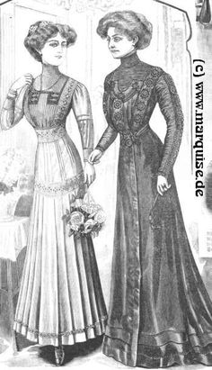Dresses for Bridesmaid and Bride's Mother, Autumn 1909