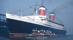 The SS United States returns triumphantly from her maiden voyage.  Frank Braynard, my second cousin, wrote a book about this ship.  I was glad that Crystal Cruise Line announced last week. FEB, 4,2016, that they bought her and are going to refurbish her and it will hopefully be used as a cruise ship in 2018. YEAH!!!!