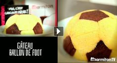 RÉALISEZ UN GÂTEAU EN FORME DE BALLON DE FOOTBALL Muffin, Breakfast, Desserts, Cooking Food, Shape, Food, Recipes, Morning Coffee, Tailgate Desserts