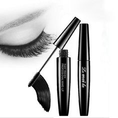 Professional Brand Makeup 3d Fiber Silicon Brush Head Eyelash Extensions Thick Curling Black Mascara Rimel Waterproof Cosmetics