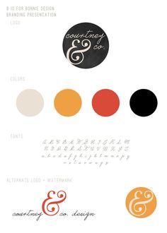 custom logo and branding board | b is for bonnie design
