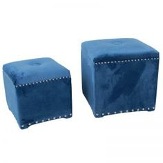 SKY BLUE UPHOLSTERED CUBES, Coffee Tables & Ottomans, Home, Decor, Furniture,modern, living, contemporary.