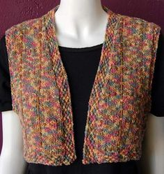 easy knitted vest pattern free | Cardigan Vest Pattern | Patterns Gallery