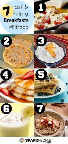 7 days of #healthy #breakfast ideas! | via @SparkPeople #fitfood