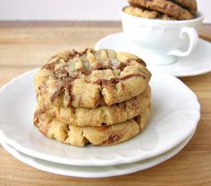 Peanut Butter and Nutella swirl cookies. I'm pretty sure I would love these.