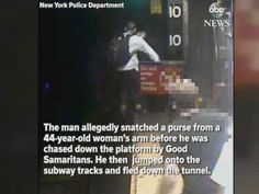 WATCH:  Purse snatching suspect jumps onto subway tracks  A suspected purse snatcher jumped onto the Manhattan subway tracks after being chased by Good Samaritans.  ------------------------------ #news #buzzvero #events #lastminute #reuters #cnn #abcnews #bbc #foxnews #localnews #nationalnews #worldnews #новости #newspaper #noticias