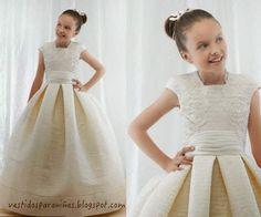 vestidos de gala color champan para niñas de 7 años - Google Search