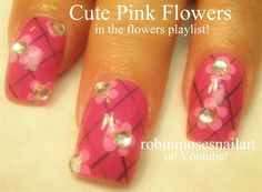 easy pink funky nails by robinmoses on Nail Art Gallery. See Robin Moses' channel on YouTube - robinmosesnailart