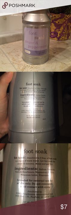 NWOT Ginger and Peppermint foot soak. NWOT ginger and peppermint foot soak. Aroma Source Other