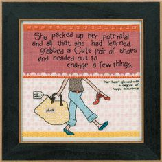 Mill Hill Kit  Curly Girl Design  Packed up Her by DebiCreations, $15.49