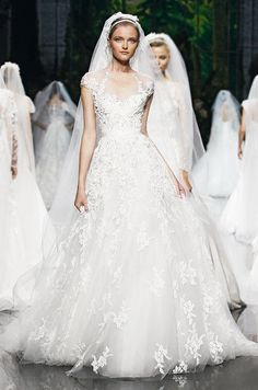 Elie Saab for Pronovias Spring 2013 Wedding Dress Collection! Elie Saab gowns are available from Kathy de Stafford Bridal Stunning Wedding Dresses, Wedding Dresses Photos, Used Wedding Dresses, Wedding Dress Styles, Bridal Dresses, Wedding Gowns, Wedding Ceremonies, Wedding Pictures, Wedding Bouquets