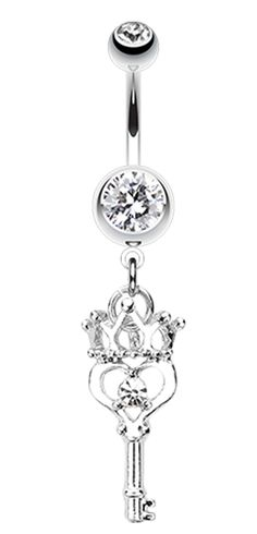 14 GA - Sold Individually 1.6mm Glistening Karma Loop Belly Button Ring