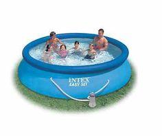 Summer's coming! Intex Easy Set Above Ground Swimming Pool Filter Pump DVD Backyard Kids Swim | eBay