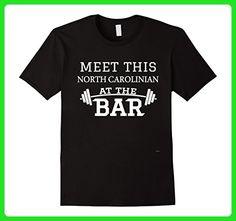 Mens Funny North Carolinian Gym Apparel Tee Shirt Medium Black - Workout shirts (*Amazon Partner-Link)