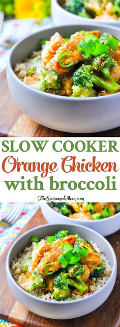 Slow Cooker Orange Chicken and Broccoli   Slow Cooker Recipes   Slow Cooker Chicken   Crock Pot Recipes   Crock Pot Meals   Crock Pot Chicken   Chicken Breast Recipes   Healthy Dinner Recipes   Dinner Ideas   Easy Dinner Recipes   Easy Healthy Dinner