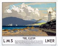 Canvas Print (other products available) - Poster produced for the London Midland & Scottish (LMS) and London & North Eastern Railways (LNER). Artwork by Norman Wilkinson.<br> - Image supplied by National Railway Museum - Canvas Print made in Australia Posters Uk, Train Posters, Railway Posters, British Travel, National Railway Museum, Fine Art Prints, Framed Prints, Retro Poster, Poster Vintage